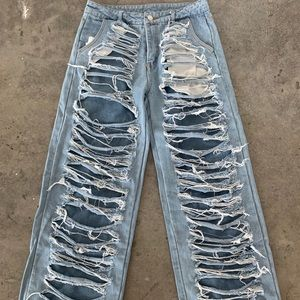 Denim - Never Worn Ripped Jeans With Lining